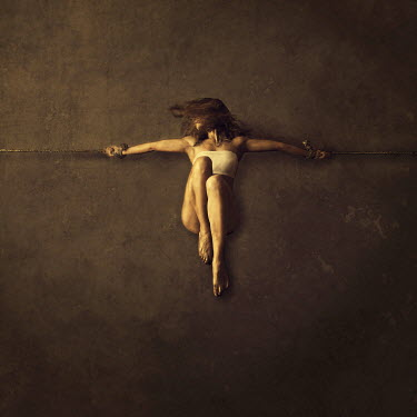 Alessandra Favetto YOUNG WOMAN TIED UP BY ROPE Women