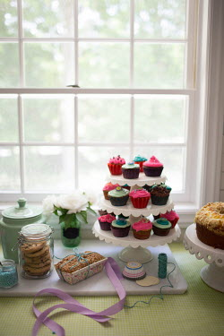 Laura Blost CAKE  ON CAKE STAND BY WINDOW Miscellaneous Objects