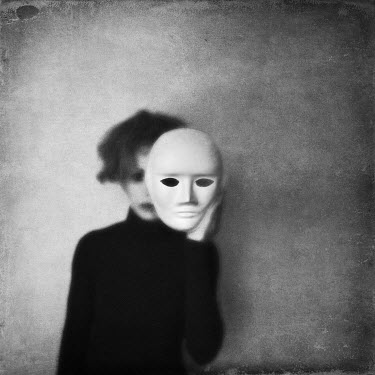 Alessandra Favetto WOMAN HOLDING WHITE MASK OVER FACE Women