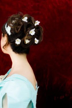 Laura Blost YOUNG WOMAN WITH FLOWERS IN HAIR Women