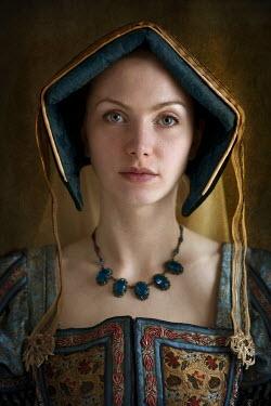 Lee Avison HISTORICAL WOMAN WEARING ENGLISH HOOD HEADDRESS Women