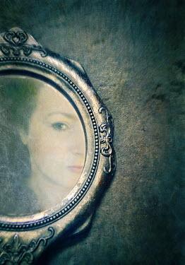 Lyn Randle WOMANS REFLECTION IN ORNATE MIRROR Women
