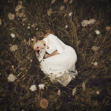 Lauren Alexandra Miller WOMAN ASLEEP IN LONG GRASS MEADOW Women
