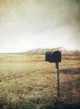 Mark Owen MAILBOX IN COUNTRYSIDE BESIDE MOUNTAINS Rocks/Mountains