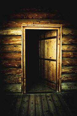 Valentino Sani SPOOKY HALF OPEN WOODEN DOOR Building Detail