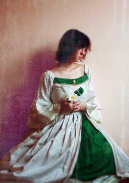 Raluca Deca WOMAN WEARING HISTORICAL GOWN INSIDE Women