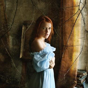 Katerina Lomonosov AUBURN HAIRED WOMAN IN SPOOKY ROOM Women