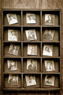 Valentino Sani OLD PHOTOS IN CABINET FRAME Miscellaneous Objects