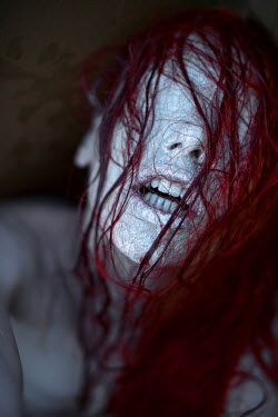 Christian Weiss SURREAL EYELESS WOMAN WITH RED HAIR Women