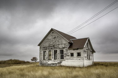 Tony Worobiec OLD HOUSE IN OVERCAST COUNTRYSIDE Houses
