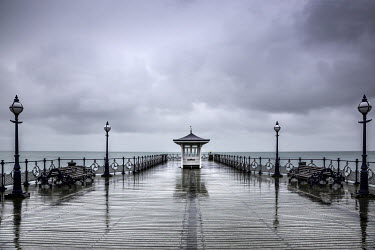 Tony Worobiec PIER BOARDWALK UNDER CLOUDY SKY Seascapes/Beaches