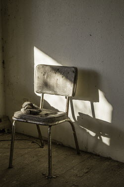 Tony Worobiec OLD WORN CHAIR IN SHABBY ROOM Miscellaneous Objects