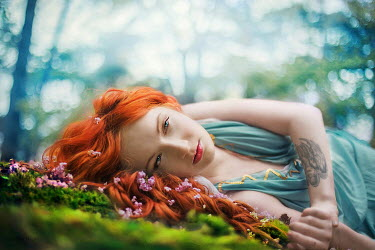 Samantha Meglioli RED HAIRED WOMAN LYING IN COUNTRYSIDE Women