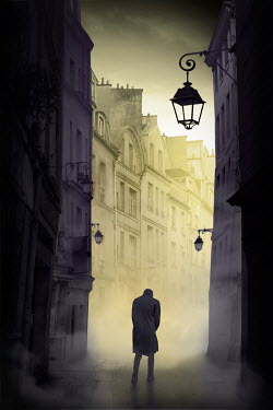 James Wragg SILHOUETTE OF MAN NEAR CITY BUILDINGS Men