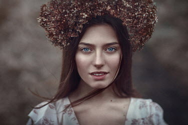 Irina Dzhul CLOSE UP OF WOMAN IN HEADDRESS Women