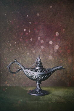 Sandra Cunningham MAGIC GENIE LAMP ON BOOK INSIDE Miscellaneous Objects