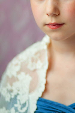 Eva Ricci YOUNG GIRL IN LACE SHAWL CLOSE UP Children