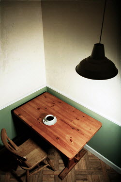 Peter Chadwick EMPTY ROOM WITH COFFEE ON TABLE Interiors/Rooms