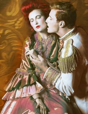 Nina Pak PASSIONATE HISTORICAL COUPLE EMBRACING INDOORS Couples