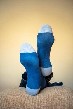 Richard Nixon PERSONS FEET IN BLUE SOCKS INDOORS Body Detail