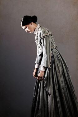 Miguel Sobreira SAD VICTORIAN WOMAN IN GREY DRESS Women