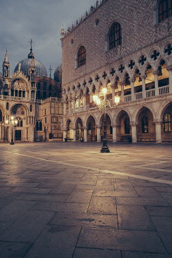 Alberto Bogo EUROPEAN TOWN SQUARE IN THE EVENING Specific Cities/Towns