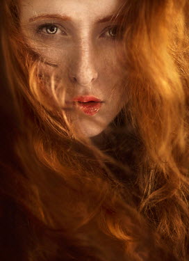 Jessica Drossin CLOSE UP OF AUBURN HAIRED WOMAN Women