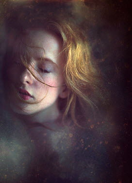 Jessica Drossin CLOSE UP OF DREAMLIKE WOMAN WITH EYES CLOSED Women