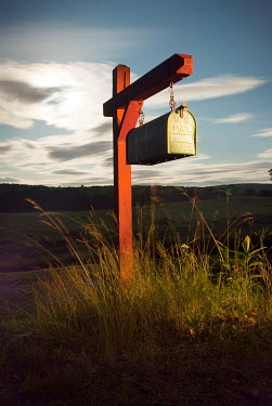 Joshua Sheldon AMERICAN MAIL BOX ON COUNTRY ROAD Miscellaneous Objects