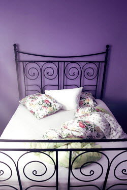 ILINA SIMEONOVA MESSY BED WITH ORNATE HEADBOARD INDOORS Interiors/Rooms