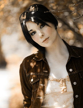 Nina Pak MODERN DARK HAIRED WOMAN OUTSIDE IN COUNTRY Women