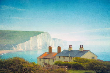 Paul Grand HOUSES BY SEA AND CLIFFS IN SUMMER Houses