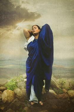Robin Macmillan WOMAN IN BLUE ROBES Women