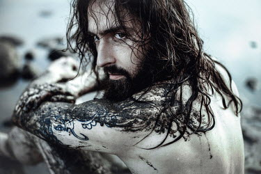 Charlotte Grimm DIRTY MAN WITH LONG HAIR AND BEARD OUTSIDE Men