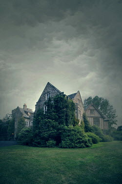 ILINA SIMEONOVA HISTORIC MANOR HOUSE UNDER STORMY SKY Houses