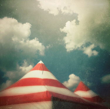 Dawn Hanna TOPS OF STRIPY CIRCUS TENTS OUTSIDE Miscellaneous Objects