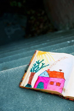 Ute Klaphake CHILDS DRAWING BOOK ON ALLEY STEPS Miscellaneous Objects