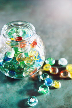Buffy Cooper GLASS JAR OF MARBLES INDOORS Miscellaneous Objects