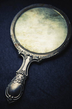 Dave Curtis CRACKED ORNATE HAND MIRROR INDOORS Miscellaneous Objects