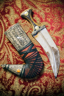 Mohamad Itani ORNATE DAGGER AND SHEATH INDOORS Weapons