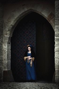 Magdalena Russocka HISTORICAL WOMAN IN DOORWAY OUTSIDE Women