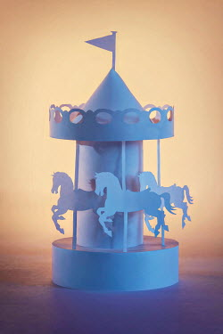 Emma Goulder PAPER MODEL OF CAROUSEL Miscellaneous Objects