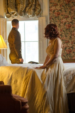 Elisabeth Ansley VINTAGE WARTIME COUPLE IN BEDROOM Couples