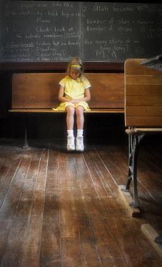 Terry Bidgood SCHOOLGIRL SITTING IN CLASSROOM Children