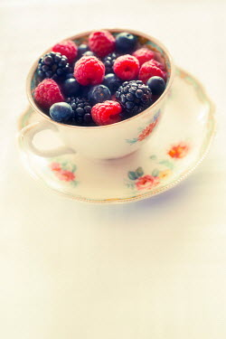 Jitka Saniova CHINA CUP FULL OF BERRIES Miscellaneous Objects
