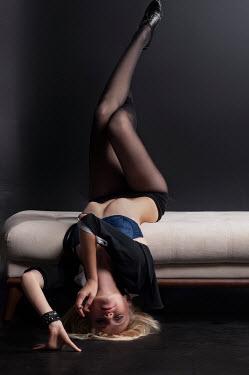 Metin Demiralay SEDUCTIVE WOMAN LYING UPSIDE DOWN Women