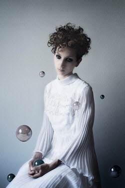 Elena Bovo WOMAN WITH FLOATING SPHERES Women