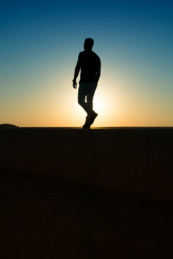 Mohamad Itani SILHOUETTED MAN WALKING Men