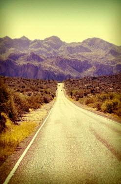 Jill Battaglia LONG EMPTY ROAD TO MOUNTAINS Roads