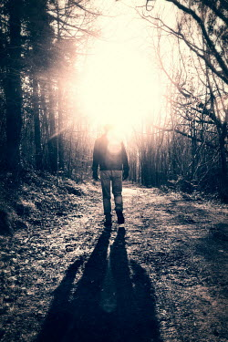 Tim Robinson MAN WALKING ON FOREST PATH Men